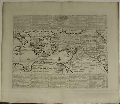 Israel Holy Land Greece Italy Middle East Armenia 1720 Chatelain Antique Map