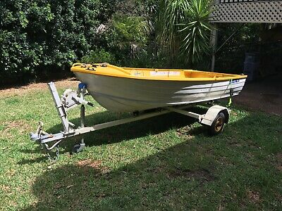 11ft Savage Aluminium Dinghy and NSW registered Trailer.