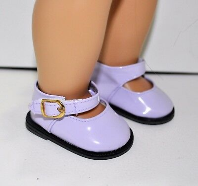 18 Inch Dolls Clothes fit American Girl Doll Our Generation Gotz Purple Shoes