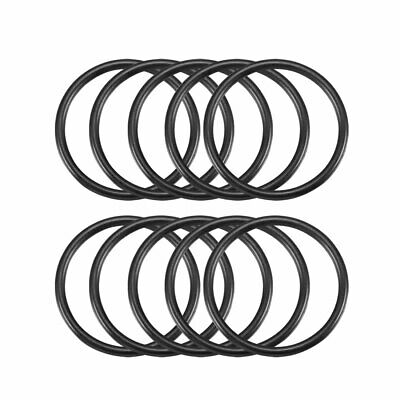 10 x 32mm Outside Dia 2.4mm Thickness Rubber O Rings Gaskets Black