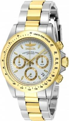 New Mens Invicta 7029 Speedway Chronograph Two Tone Bracelet Watch