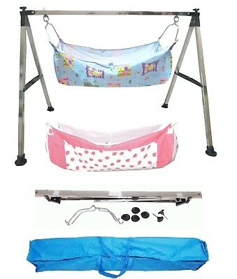 Baby Cradle, Cote, Swing fully folding with two pc of cotton hammock with net.