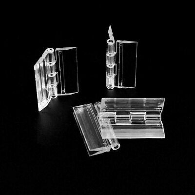 10Pcs 45*33mm Clear Acrylic Plastic Folding Drawer Cabinets DoorButt Hinges IN9