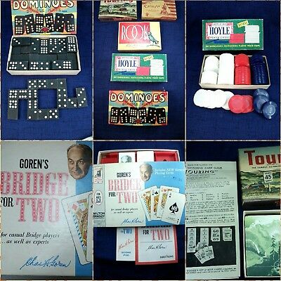 Vintage Bundle of Complete Card Games 1940s-60s Parker Brothers and Other Brands