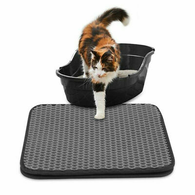 Double Layer Cat Litter Trapper Pet Mat Waterproof with Honeycomb Design Tray