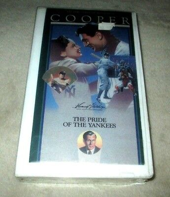 The Pride Of The Yankees 1942 Film Vhs Tape Lou Gehrig Gary Cooper Baseball New