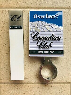 Canadian Club And Dry Beer Tap Top Decal And Mount With Handle!!