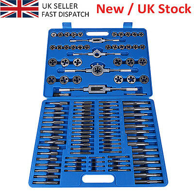 110PCS Metal WRENCH TAP and Die Set Cutter Kit Metric Steel Screw Bolt Blue Case