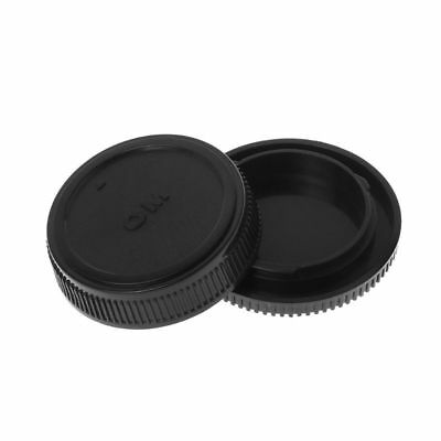 For Olympus OM Rear Lens Body Cap Camera Cover Mount Protection Plastic Black