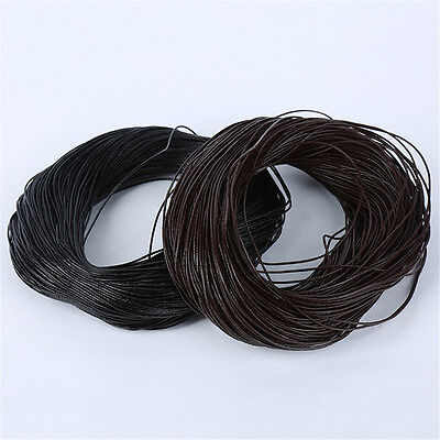 Wholesale 1mm 2mm 3mm Leather String DIY Jewelry Making Thread Cord 1/10 Metres