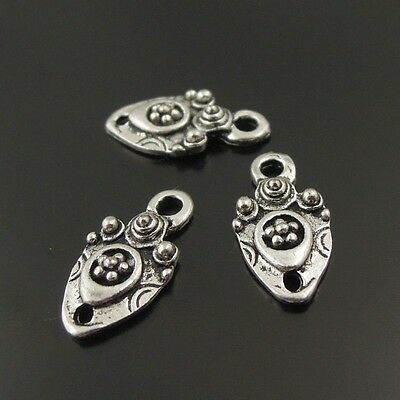 4pcs Vintage Silver Alloy Skull Face Charms Pendant Jewelry Accessories 51193