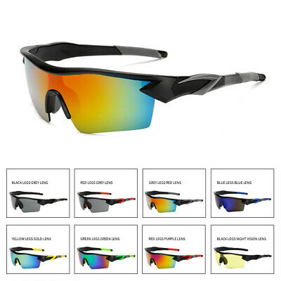 Mens Sunglasses Cycling Driving Riding Safety Reflective Glasses Outdoor Sports