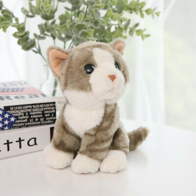Simulation Cat Animal Plush Doll Stuffed Toy Home Car Decor Kids Children Gift C