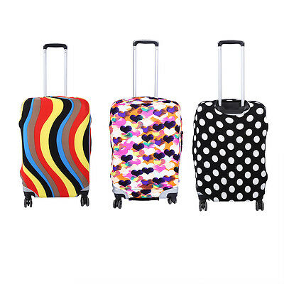 Printed Elastic Luggage Suitcase Cover Protect Bag Dustproof Case Protector OB