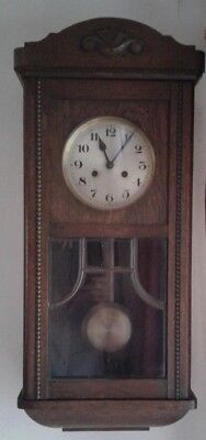 German D.r.g.m Chiming Wooden Wall Clock