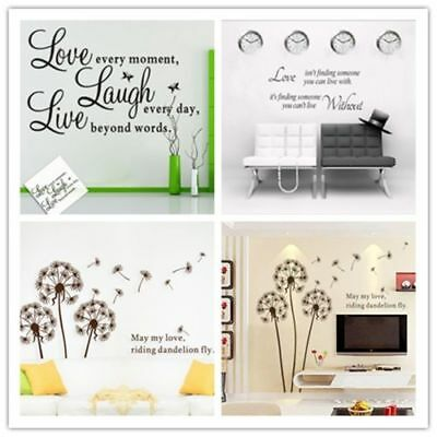 DIY Removable Art Quote Wall Paper Sticker Decal Mural Home Room Decor WL