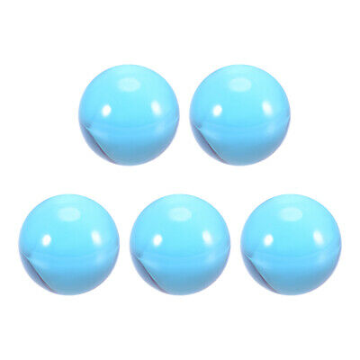 30mm Diameter Acrylic Ball Blue Sphere Ornament 1.2 Inches 5 Pcs