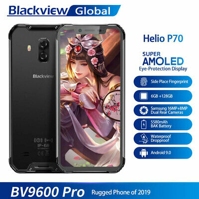 Blackview BV9600 Pro IP68 Rugged Phone 6GB+128GB Helio P70 FHD AMOLED Smartphone