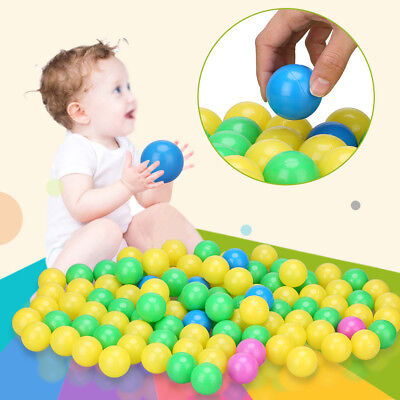 Baby Kids Plastic Colorful Play Balls For Ball Pit Ocean Swim Pool Toy 100Pcs OB