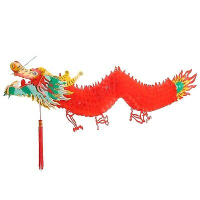 (1.5m) - Bememo 3D Chinese New Year Dragon Garland Hanging Decoration (1.5m)