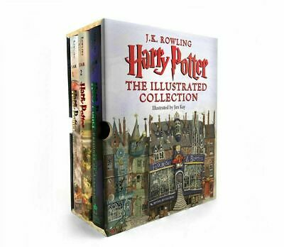 Harry Potter: the Illustrated Collection (Books 1-3 Boxed Set) Free ship , fast