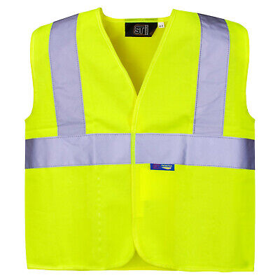 Kids Hi Vis Vest Unisex High Viz Visibility Reflective Junior Safety Waistcoat