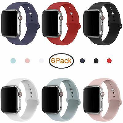 Muzzai Sport Bands Compatible For Iwatch 38Mm 42Mm 40Mm 44Mm, Sport Silicone Str