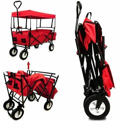 CAMPZA Festival Trolley Roof Picnic Beach Folding  Cart X Large Pull Along Wagon