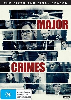 Major Crimes : Season 6 (DVD, 3-Disc Set) NEW