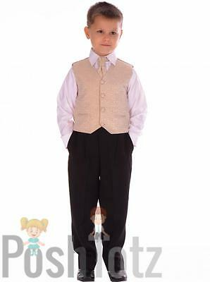 Baby Suit Champagne Swirl 4pc pageboy prom formal wedding