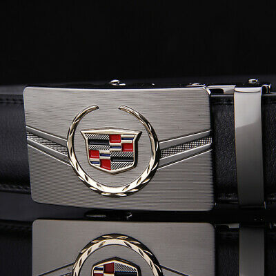 Men' Belts Metal Automatic Buckle Genuine Leather Belt For Men 50""
