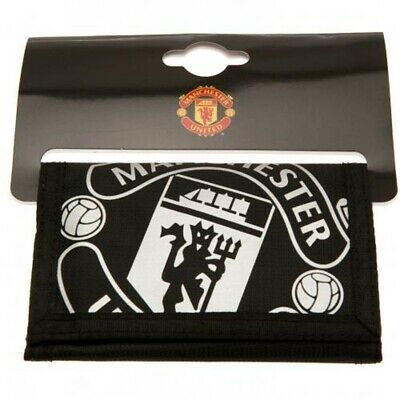 Manchester United FC Wallet Official Merchandise Nylon MUFC Man Utd Black Foil