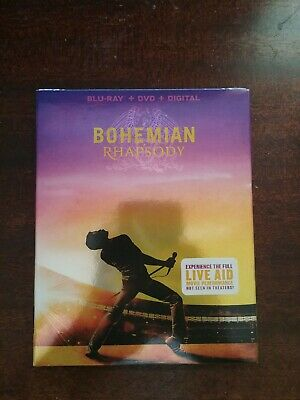 NEW - Bohemian Rhapsody (Blu-Ray +  DVD + Digital)  w/Slipcover