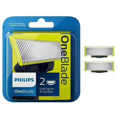 Philips OneBlade QP220 replacement blade 2-pack. NEW GENUINE SEALED + FREE P&P