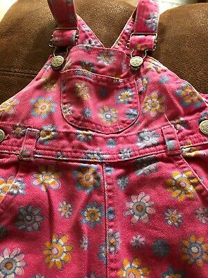 Girls Toddler 18-24 Months Dungarees Shorts Flower Pattern