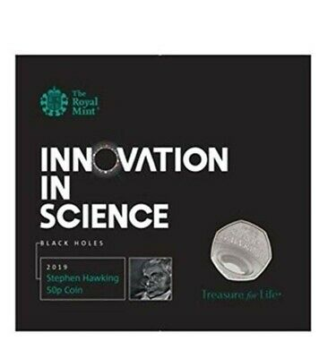 2019 50P Fifty Pence Coin Royal Mint Stephen Hawking Brilliant Uncirculated