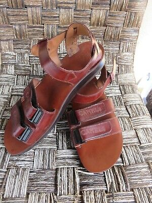 57ee88d4cc32 CAMEL JESUS SANDALS Brown Genuine Leather Greek Roman Size 44 For ...