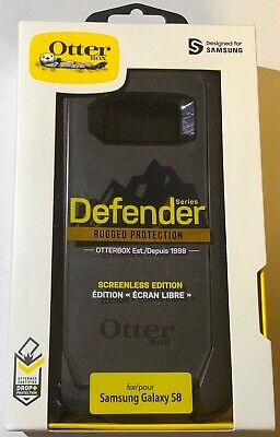 NEW Otterbox Defender Screenless Edition Case for Samsung Galaxy S8 ONLY Black
