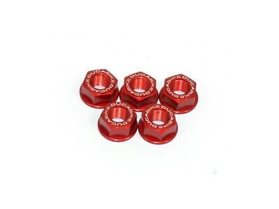 Ducabike Ducati Scrambler CNC Rear Sprocket Carrier Nuts - Red