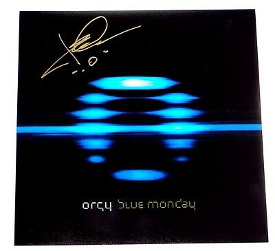 Orgy Jay Gordon Signed Blue Monday 12X12 Album Cover Photo!!!
