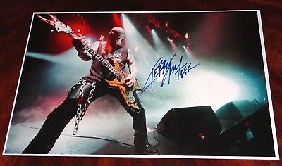 Kerry King Slayer Guitarist Signed 12X18 Photo!!! Setlist!!!Heavy Metal!!!