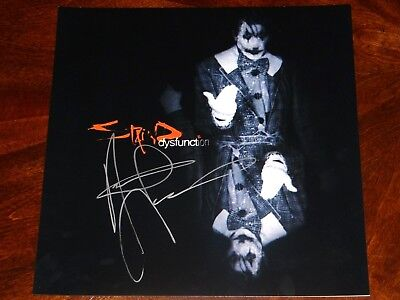 Staind Aaron Lewis Signed Dysfunction 12X12 Album Cover Photo!!!