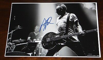 Peter Hook Of New Order And Joy Division Signed 12X18 Live Photo!!!