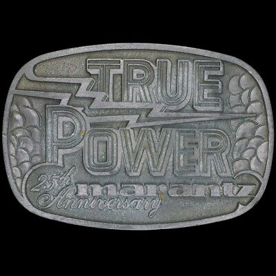 Vtg Marantz True Power Audiophile Hi-Fidelity 25th Anniversary Belt Buckle