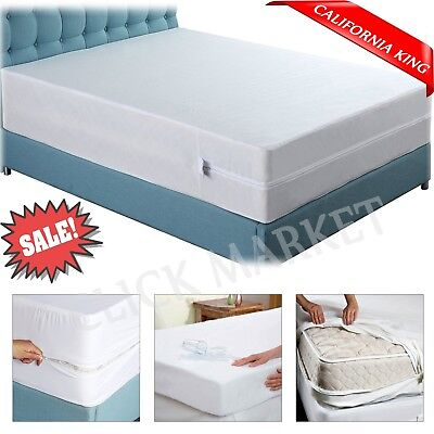 CALIFORNIA KING MATTRESS Encasement Protector Zippered Bed Bug Waterproof Cover