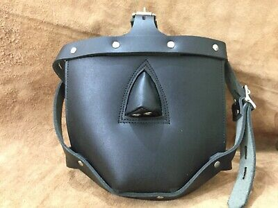 New Genuine Leather Bondage Padded Face Muzzle Locking Head Harness Role Play