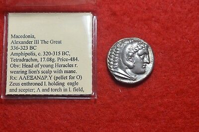TETRADRACHM - MACEDONIA, ALEXANDER III THE GREAT 336-323 BC  -  17.08g