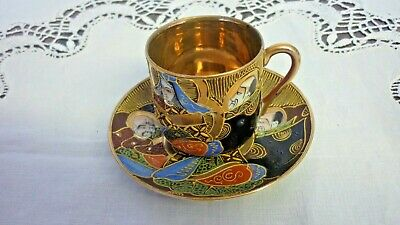 Vintage Samurai China Handpainted Coffee Cup & Saucer rd no.539405