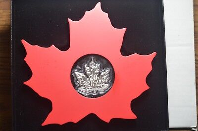 2015 Canada $20 Maple Leaf Shaped 1 oz Silver Proof Coin w/ OGP