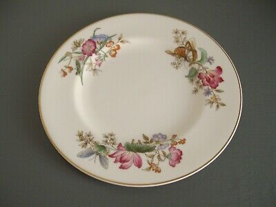 Wedgewood ~ White China Side Plate With Butterflies And Flowers